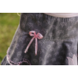 Kislány nyári szoknya, barokk mintás szürke rózsaszín