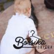 Fehér lányka blúz (mellben húzott)