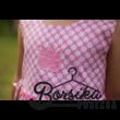 Rózsaszín kockás nyári ruha