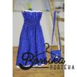 Középkék színű, tulipános, kékfestő mintájú tini és női ruha