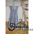 Kék apró virágos tini és női ruha