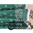Zöld, bordűrös, PÖRGŐS néptáncos szoknya megkötővel (290 cm) - hossz: 65 cm, derékbőség: 82 cm