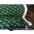 Zöld színű, apró virágos, zöldfestő mintájú, kicsit pörgős néptáncos szoknya gumival (200 cm körben) - 70 cm hosszú