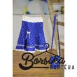 Középkék színű, PÖRGŐS, tulipános, kékfestő mintájú lány szoknya (86-92-es méret)