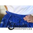 Középkék bordűrös, kékfestő mintás, EXTRA PÖRGŐS, néptáncos szoknya (440 cm körben)
