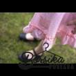 Halvány barack, apró virágos, nyári pörgős szoknya