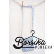 Kék-rózsaszín, apró virágos táska