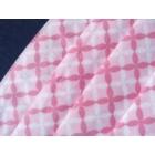 SZÁJMASZK 3 hajtásos 3 rétegű Rózsaszín Négyzetes Orrmerevítős