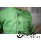 Pisztácia zöld színű, lenvászon fiú ing
