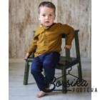 Rozsdabarna színű, lenvászon fiú ing