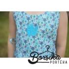 Türkiz, hat szirmos apró virágos nyári ruha