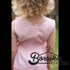 Halvány barack, apró virágos nyári ruha