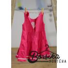 Közép rózsaszín kordbársony ruha rózsaszín díszítéssel