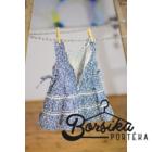 Kék, apró virágos nyári ruha