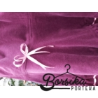 Világos padlizsán kordbársony lány szoknya taft tulipán díszítéssel rózsaszín szatén masnival