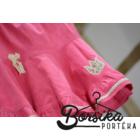 Világos rózsaszín, PÖRGŐS, kordbársony lány szoknya apró virágos díszítéssel