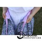 Kék-rózsaszín apróvirágos, EXTRA PÖRGŐS, villantós néptáncos szoknya (440 cm körben)