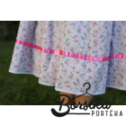 Drapp-rózsaszín rózsás, EXTRA PÖRGŐS, villantós néptáncos szoknya (440 cm körben)