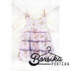 Lila, nagy virágos nyári ruha