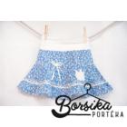 Kék, apró virágos, nyári pörgős szoknya