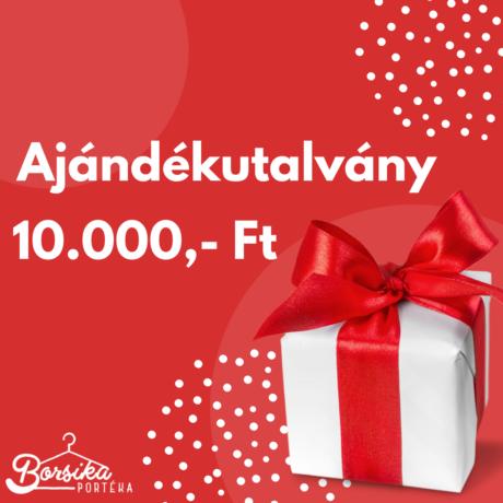 10.000 forint értékű ajándékutalvány