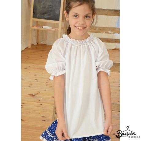 Fehér lányka blúz (alul sima)