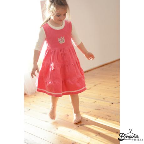 Világos rózsaszín kordbársony ruha