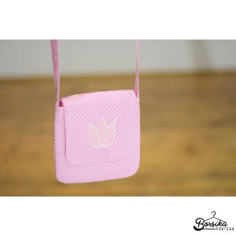 Rózsaszín pöttyös táska