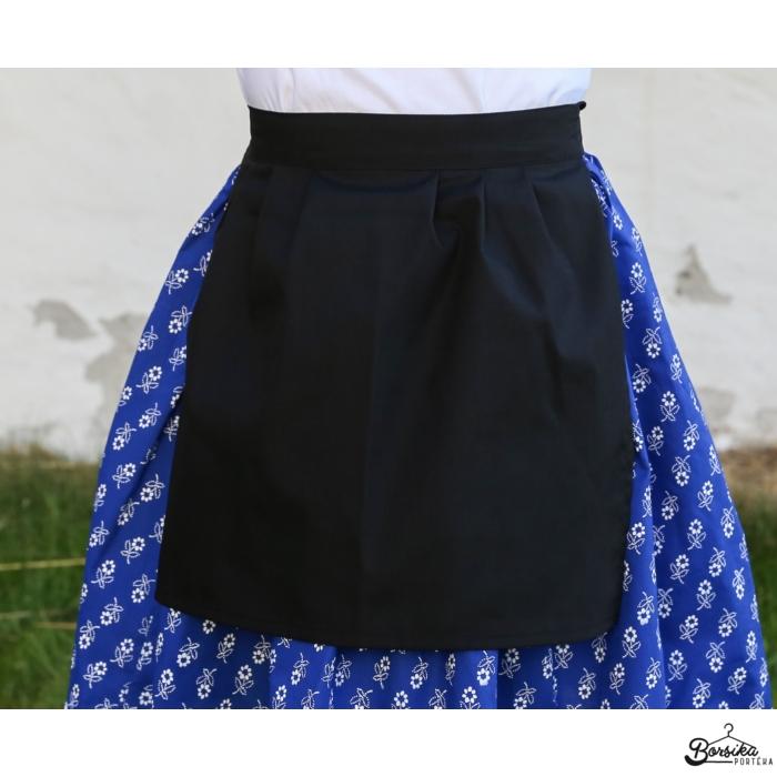 Borsika Portéka - Kötény, néptáncs, fekete pamut puplin